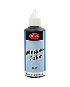 Window Color - bordes, negro, 80 ml/ 1 botella