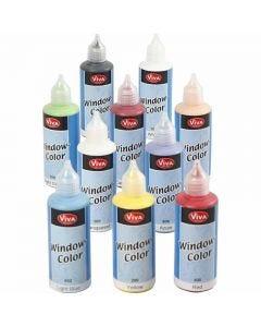 Window Color, surtido de colores, 10x80 ml/ 1 paquete
