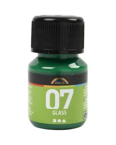 Pintura A-color Glass, Verde Brillante, 30 ml, 1 Botella