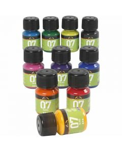 Pintura A-color Glass, Surtido De Colores, 30 ml, 10 Botella