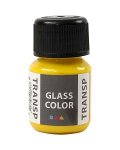 Pintura Glass Color Transparent, amarillo limón, 30 ml/ 1 botella