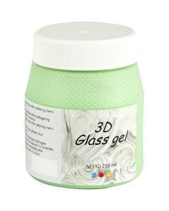 3D glass Gel, verde, 250 ml/ 1 bote