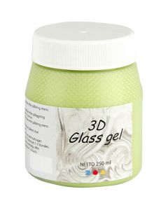 3D glass Gel, verde claro, 250 ml/ 1 bote