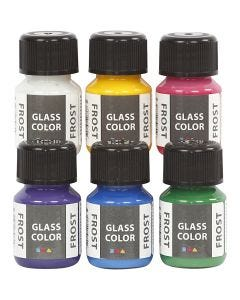 Glass Color Frost, surtido de colores, 6x30 ml/ 1 paquete