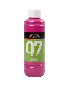 Pintura A-Color Glass, rosa, 250 ml/ 1 botella