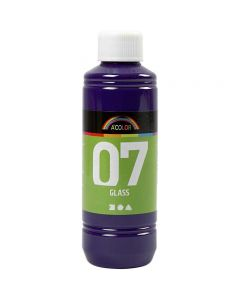 Pintura A-Color Glass, rojo / violeta, 250 ml/ 1 botella