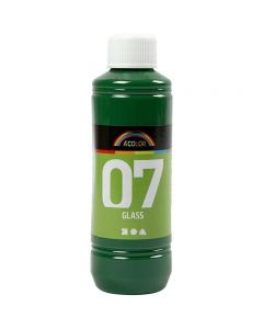Pintura A-Color Glass, verde brillante, 250 ml/ 1 botella