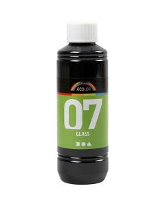 Pintura A-Color Glass, negro, 250 ml/ 1 botella
