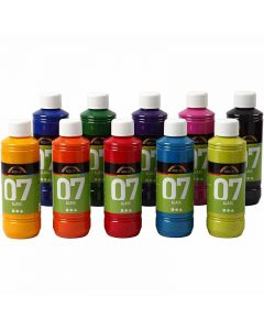 Pintura A-color Glass, Surtido De Colores, 250 ml, 10 Botella