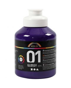 Pintura acrílica A-Color, glossy, violeta, 500 ml/ 1 botella