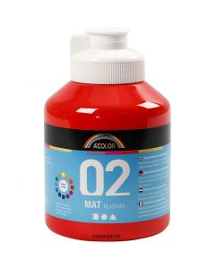 Pintura A-Color Ready Mix Paint, mate, rojo, 500 ml/ 1 botella