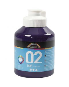 Pintura A-Color Ready Mix Paint, mate, violeta, 500 ml/ 1 botella