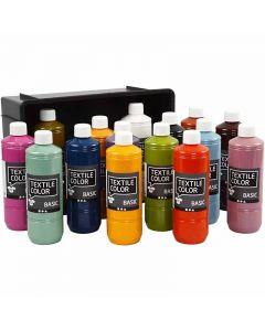 Textile Colour, surtido de colores, 15x500 ml/ 1 paquete
