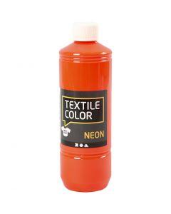 Textile Colour, naranja neón, 500 ml/ 1 botella