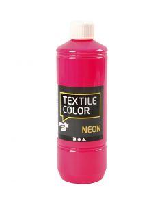 Textile Colour, rosa neón, 500 ml/ 1 botella