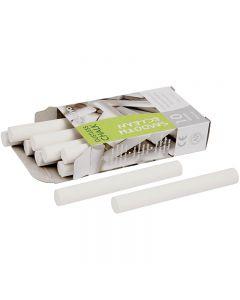 Tiza, L. 8 cm, dia: 10 mm, blanco, 10x10 ud/ 1 paquete