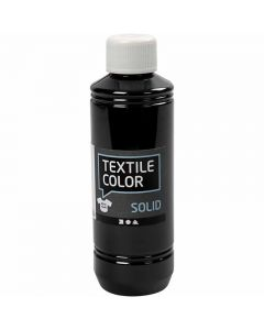 Textile Solid , opaco, negro, 250 ml/ 1 botella