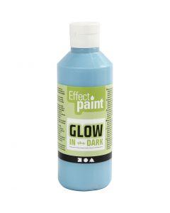 Pintura luminosa en la oscuridad, azul claro fluorescente, 250 ml/ 1 botella