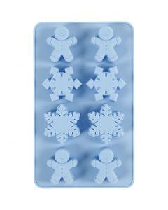 Molde de silicona, A: 2,5 cm, L. 24 cm, A: 14 cm, medida agujero 30x45 mm, 12,5 ml, azul claro, 1 ud/ 1 paquete
