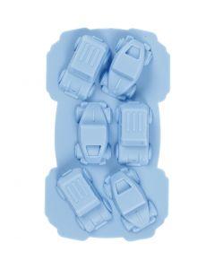 Molde de silicona, Coches, medida agujero 30x45 mm, 12,5 ml, azul claro, 1 ud