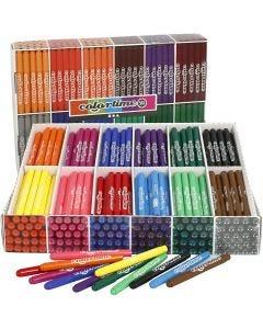 Colortime rotuladores, trazo ancho 5 mm, surtido de colores, 576 ud/ 1 paquete