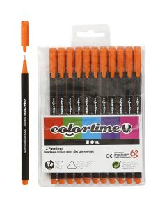 Colortime Fineliner , trazo ancho 0,6-0,7 mm, naranja, 12 ud/ 1 paquete
