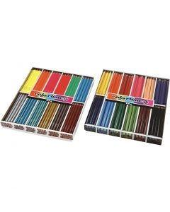 Lápices de colores Colortime, mina 4+5 mm, surtido de colores, 288 ud/ 1 paquete