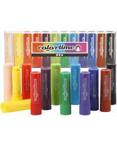 Soft Color Stick, L. 8 cm, surtido de colores, 12 ud/ 1 paquete