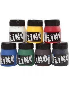 Tinta de impresión, surtido de colores, 7x250 ml/ 1 paquete