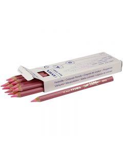 Super Ferby 1 lápices de colores, L. 18 cm, mina 6.25 mm, rojo claro, 12 ud/ 1 paquete