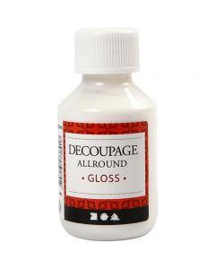 Barniz de découpage, glossy, 100 ml/ 1 botella