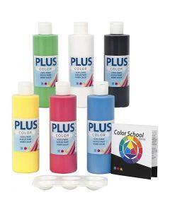 Pintura craft Plus Color, colores primario, 6x250 ml/ 1 paquete