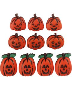Botones, Halloween, A: 14-20 mm, A: 13-14 mm, 10 ud/ 1 paquete