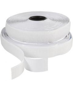 Velcro , A: 20 mm, blanco, 5 m/ 1 rollo