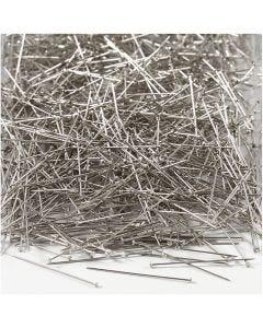 Agujas , L. 30 mm, grosor 0,55 mm, plata, 500 gr/ 1 paquete