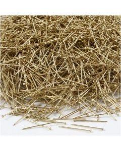 Agujas , L. 18 mm, grosor 0,6 mm, dorado, 500 gr/ 1 paquete