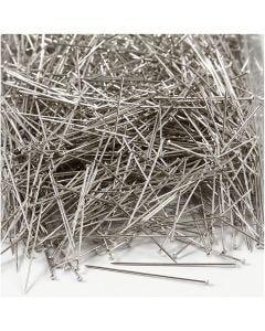 Agujas , L. 37 mm, grosor 0,7 mm, plata, 500 gr/ 1 paquete