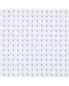 Tela Aida, medidas 50x50 cm, 35 cuadrados por 10 cm , blanco, 1 ud