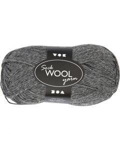 Lana para tejer , L. 200 m, gris oscuro, 50 gr/ 1 bola
