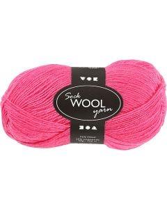 Lana para tejer , L. 200 m, rosa, 50 gr/ 1 bola