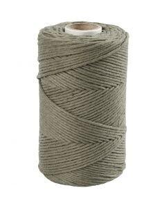 Cuerda de macramé, L. 198 m, dia: 2 mm, verde musgo, 330 gr/ 1 rollo