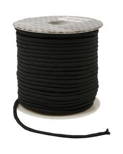 Cuerda poliéster, grosor 4 mm, negro, 40 m/ 1 rollo