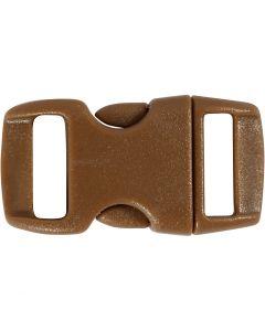 Cierre click, L. 29 mm, A: 15 mm, medida agujero 3x11 mm, marrón, 4 ud/ 1 paquete