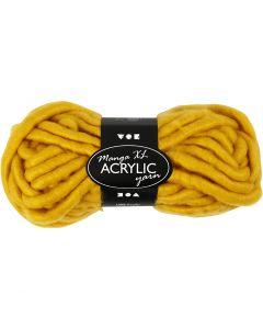 Hilo grueso de acrílico, L. 17 m, medidas manga , amarillo oscuro, 200 gr/ 1 bola