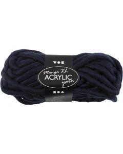 Hilo grueso de acrílico, L. 17 m, medidas manga , azul oscuro, 200 gr/ 1 bola