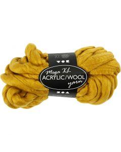 Hilo grueso de acrílico/lana, L. 15 m, medidas mega , amarillo oscuro, 300 gr/ 1 bola