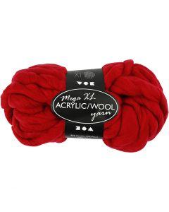 Hilo grueso de acrílico/lana, L. 15 m, medidas mega , rojo oscuro, 300 gr/ 1 bola