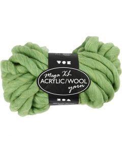 Hilo grueso de acrílico/lana, L. 15 m, medidas mega , verde lima, 300 gr/ 1 bola
