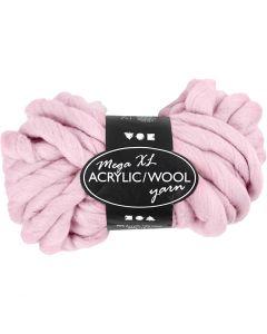 Hilo grueso de acrílico/lana, L. 15 m, medidas mega , rosado, 300 gr/ 1 bola