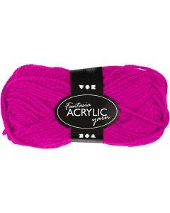 Fantasia lana acrílica, L. 80 m, fucsia, 50 gr/ 1 bola